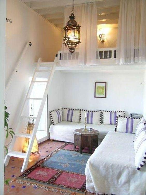 Gagner de la place avec un lit mezzanine