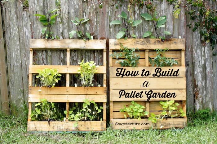 palettes pour le jardin
