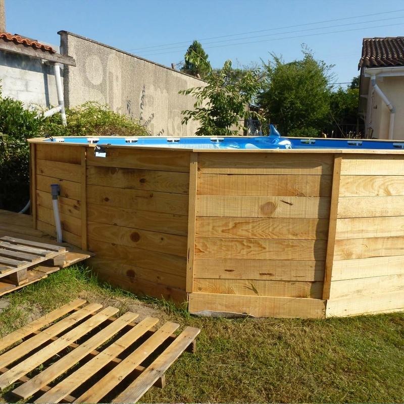 Comment embellir une piscine hors sol ou semi enterr e 20 - Habillage tour de piscine ...