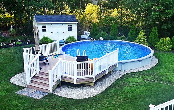 Comment embellir une piscine hors sol ou semi-enterrée! 20 idées...