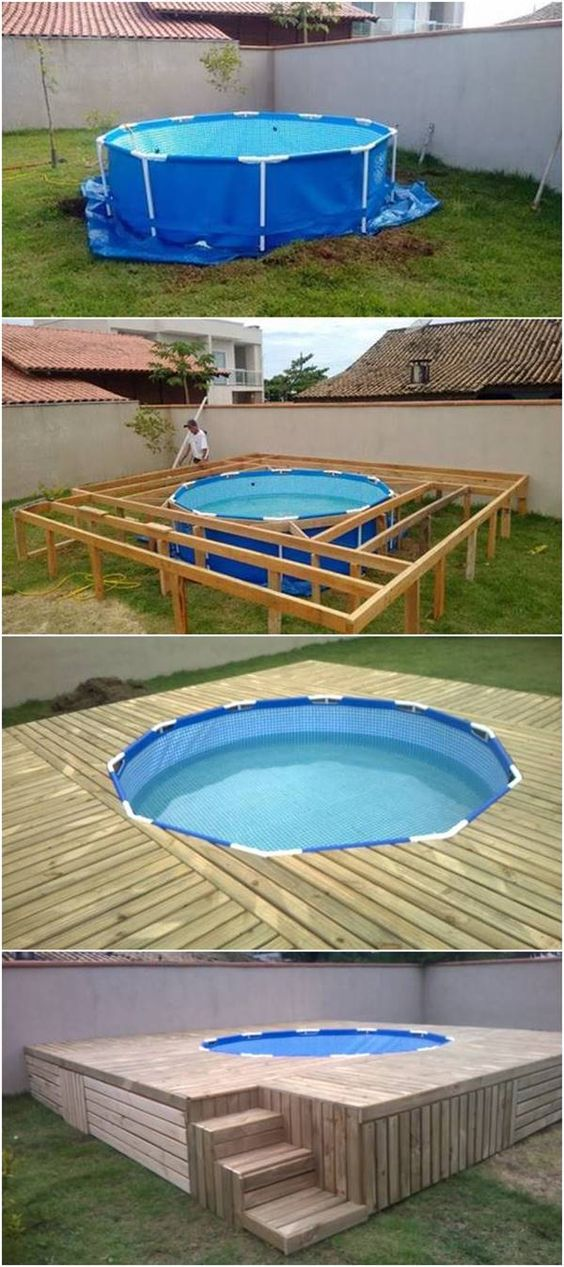 Comment embellir une piscine hors sol ou semi enterr e 20 for Piscine en palette