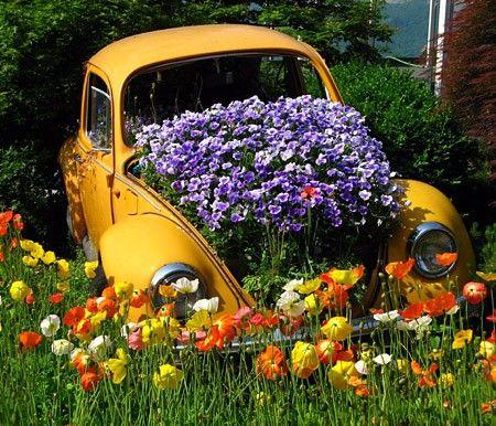 Recyclage créatif pour décorer son jardin
