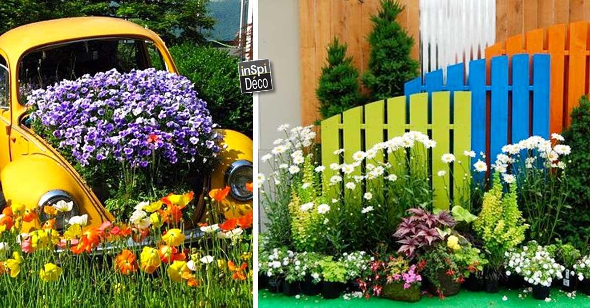 Recyclage cr atif pour d corer son jardin voici 20 id es - Decoration de jardin a fabriquer ...