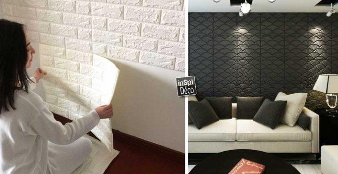D corer les murs avec des panneaux 3d facile et pas cher - Panneaux decoration murale ...