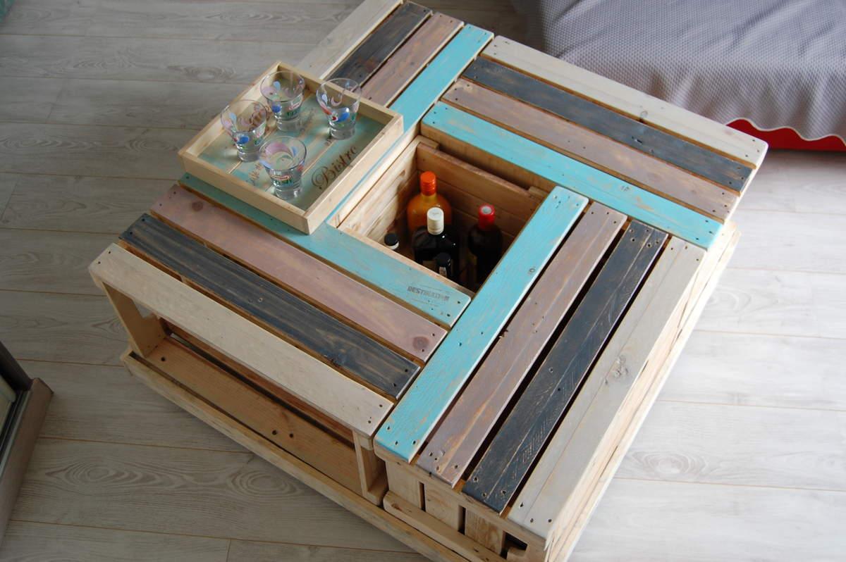 Décorer son salon avec des caisses en bois