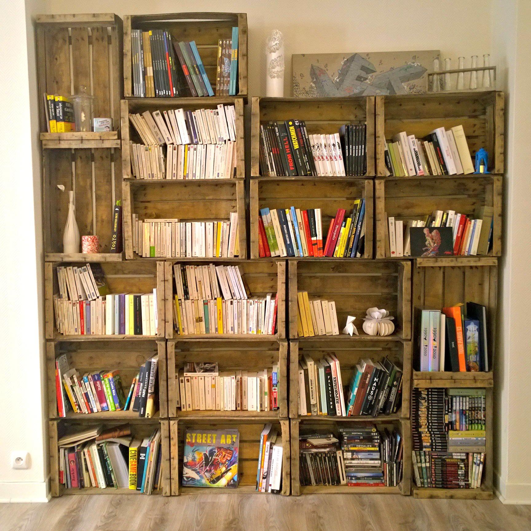 d corer son salon avec des caisses en bois 20 id es pour vous inspirer. Black Bedroom Furniture Sets. Home Design Ideas