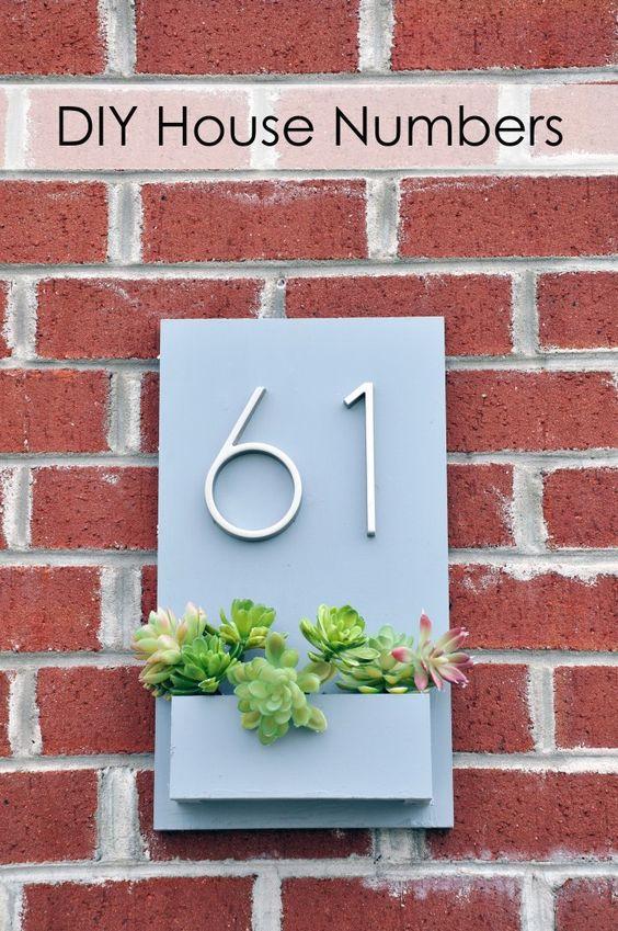 une plaque numéro d'adresse originale