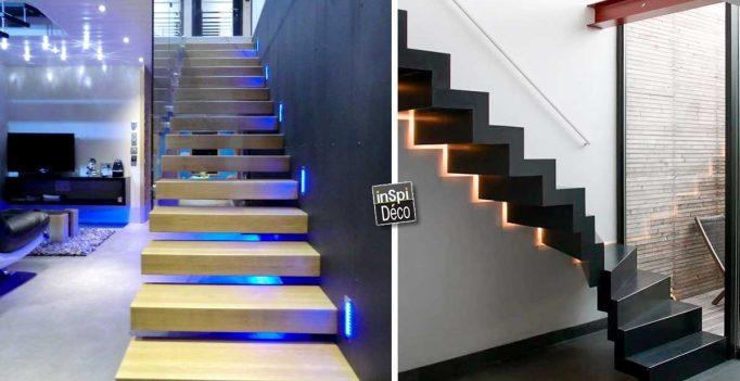 Led pour les escaliers! Voici 20 idées déco pour vous inspirer...