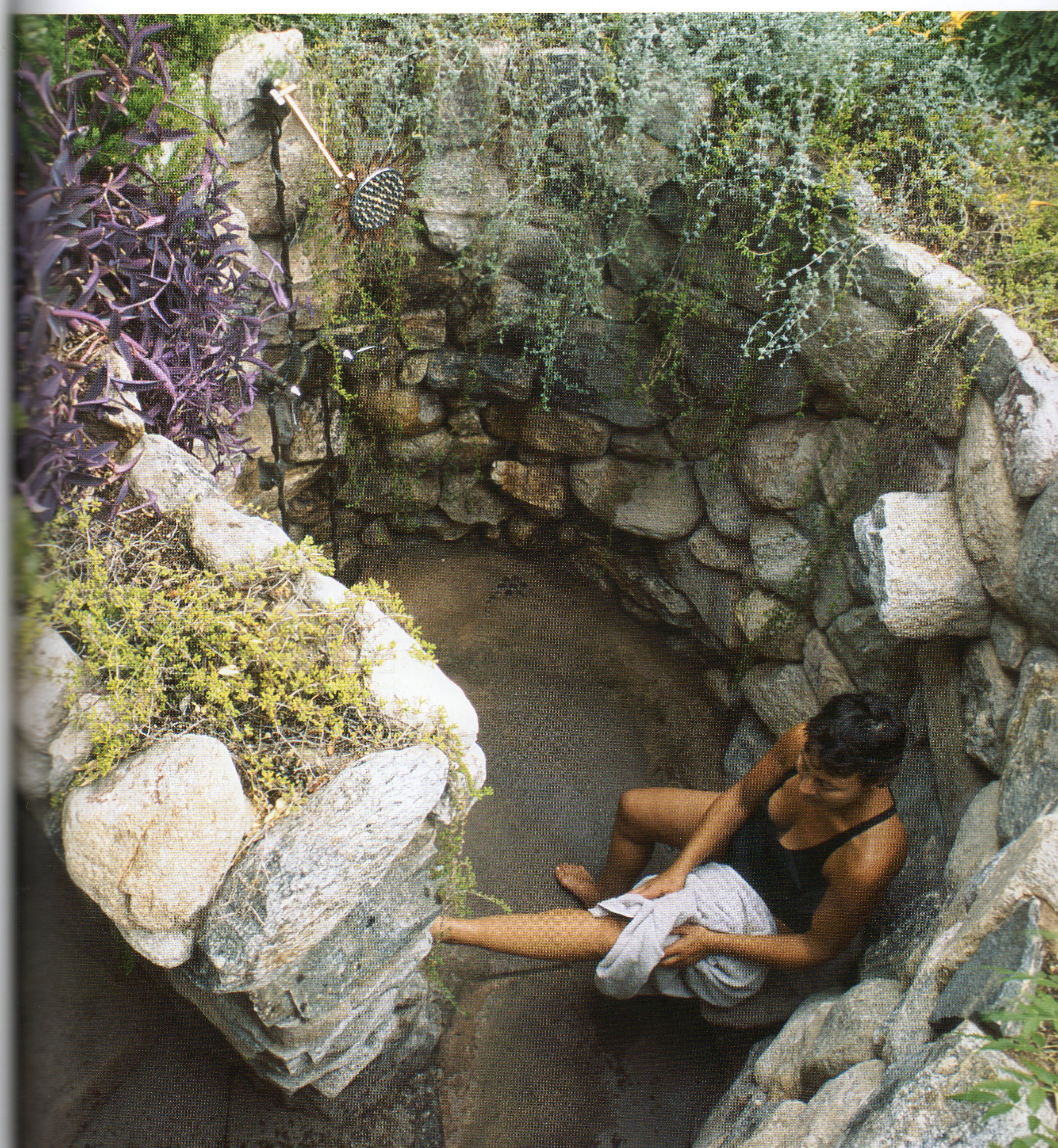 une douche de jardin
