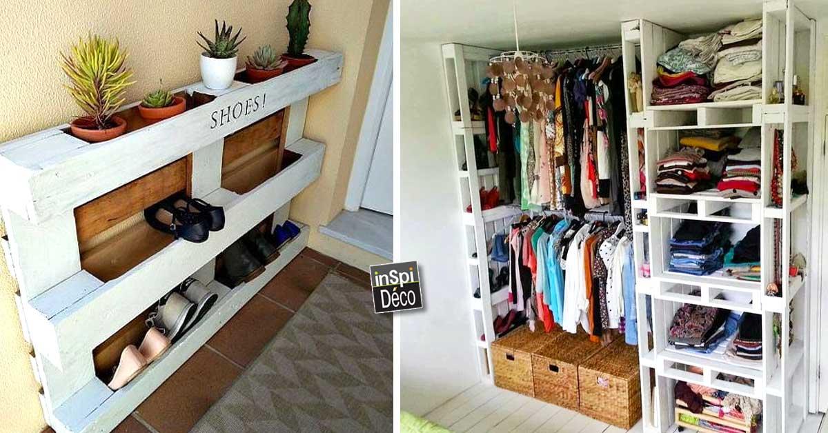 dressing avec des palettes de bois 12 id es pour vous inspirer. Black Bedroom Furniture Sets. Home Design Ideas