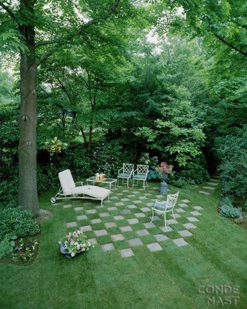 Poser les dalles de jardin