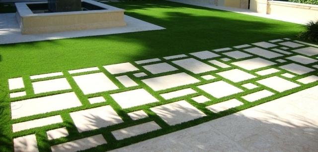 poser les dalles de jardin de fa on originale 15 id es. Black Bedroom Furniture Sets. Home Design Ideas