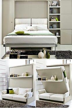 Un lit escamotable pour gagner de la place regardez ces 20 id es design - Plier ses vetements pour gagner de la place ...