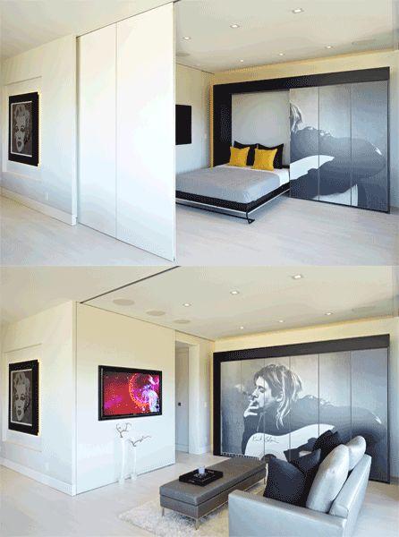 soluzioni per un letto salvaspazio