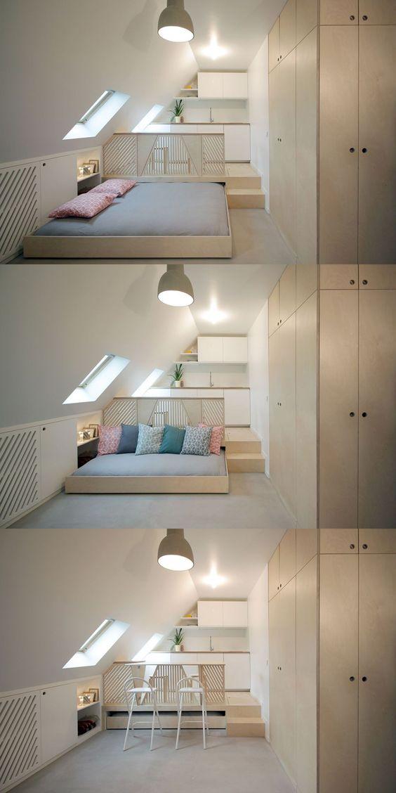 Un lit escamotable pour gagner de la place