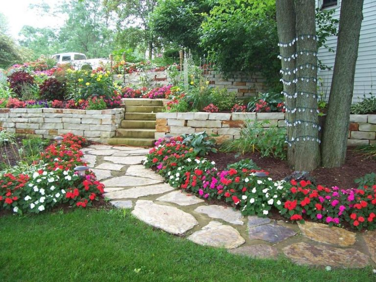 R aliser une all e en pierres de jardin 20 exemples for Landscaping rocks sunshine coast
