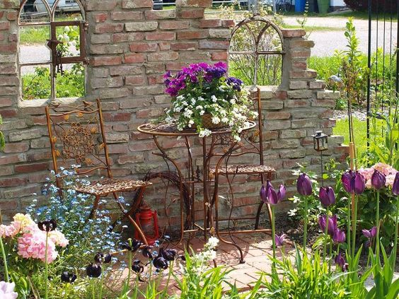 Salon original dans le jardin 20 id es d co pour vous inspirer for Idee salon de jardin original