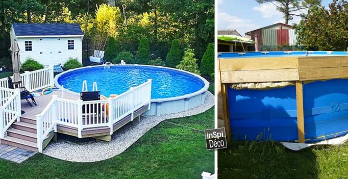 Comment embellir une piscine hors sol ou semi enterr e 20 for Decoration piscine exterieure