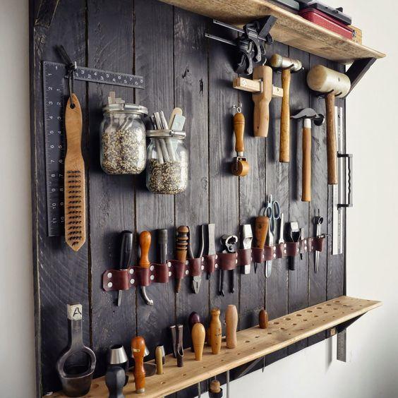 id es pour ranger les outils voici 20 exemples inspirants. Black Bedroom Furniture Sets. Home Design Ideas