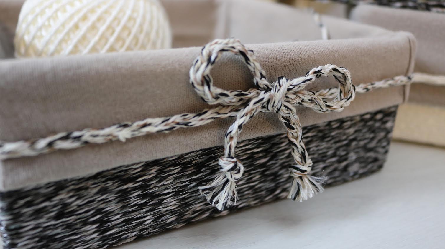 panier avec carton recycl et de la ficelle le tutoriel. Black Bedroom Furniture Sets. Home Design Ideas