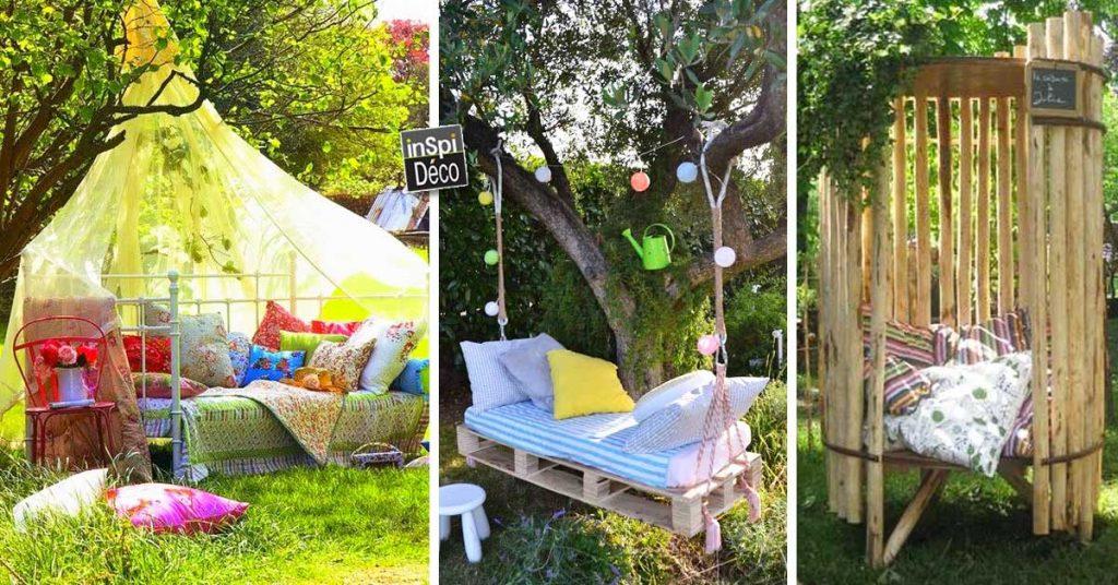Un petit coin relax dans le jardin! 20 idées inspirantes...