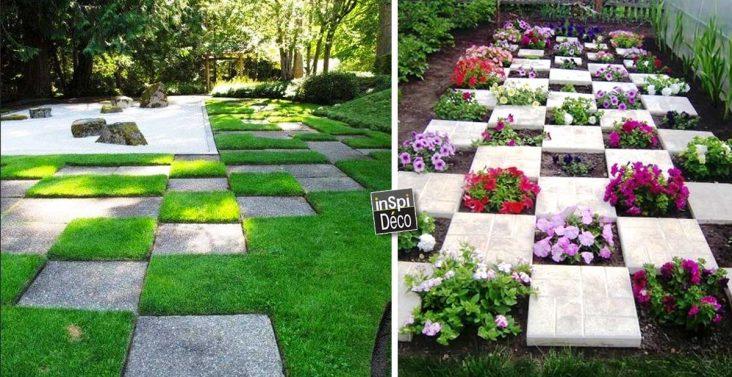 poser les dalles de jardin de fa on originale 15 id es inspirantes. Black Bedroom Furniture Sets. Home Design Ideas