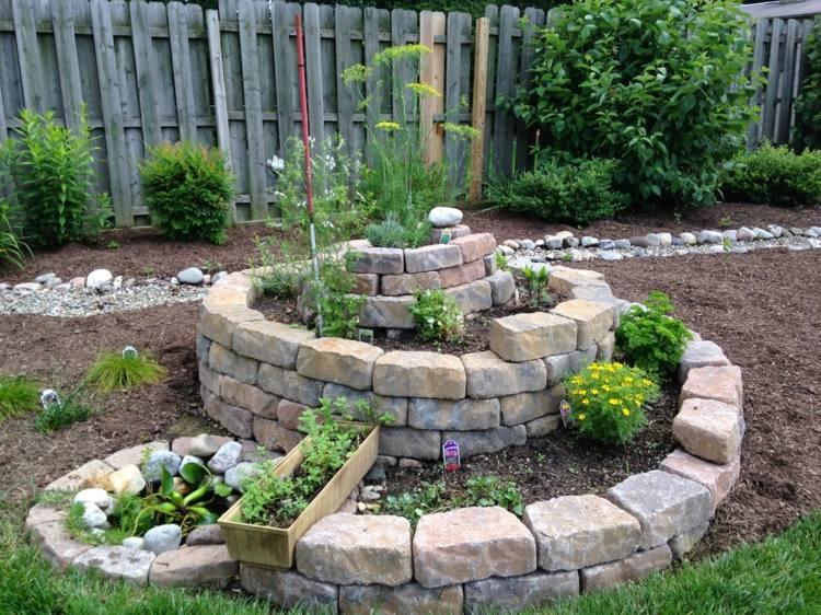 Assez Une rocaille originale en spirale! 20 idées inspirantes (VIDEO) IL48