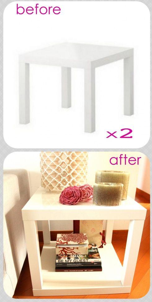 relooker une table lack de chez ikea 15 id es laissez vous inspirer. Black Bedroom Furniture Sets. Home Design Ideas