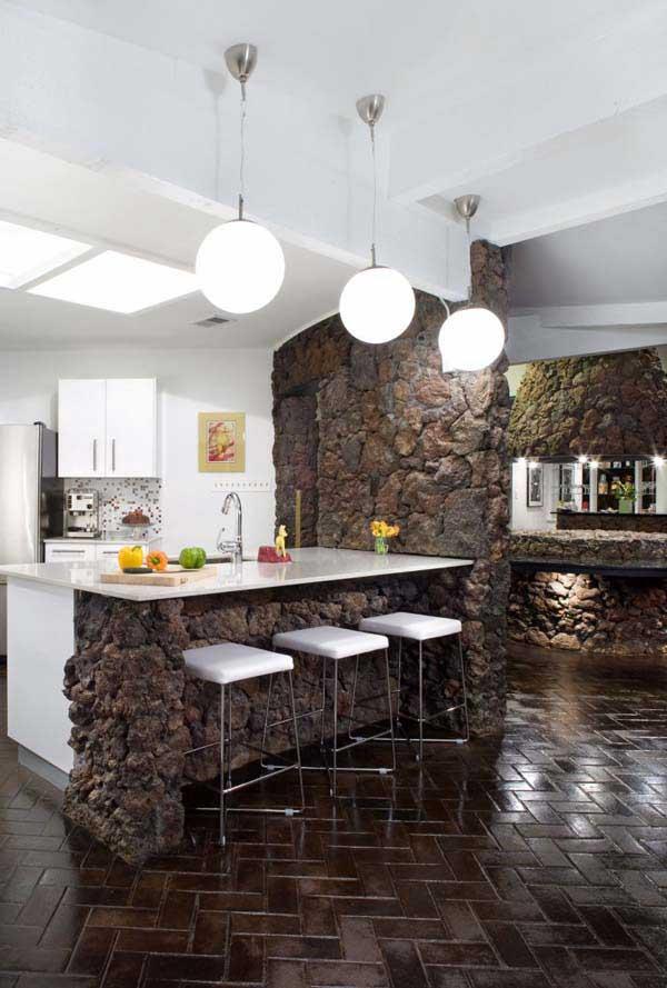 déco en pierre pour la cuisine