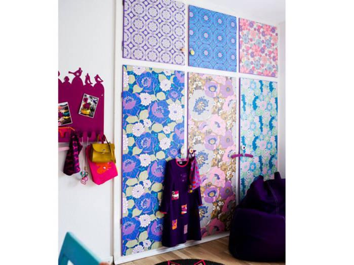 Recycler les chutes de papier peint 20 id es pour vous - Tapisserie pour porte ...