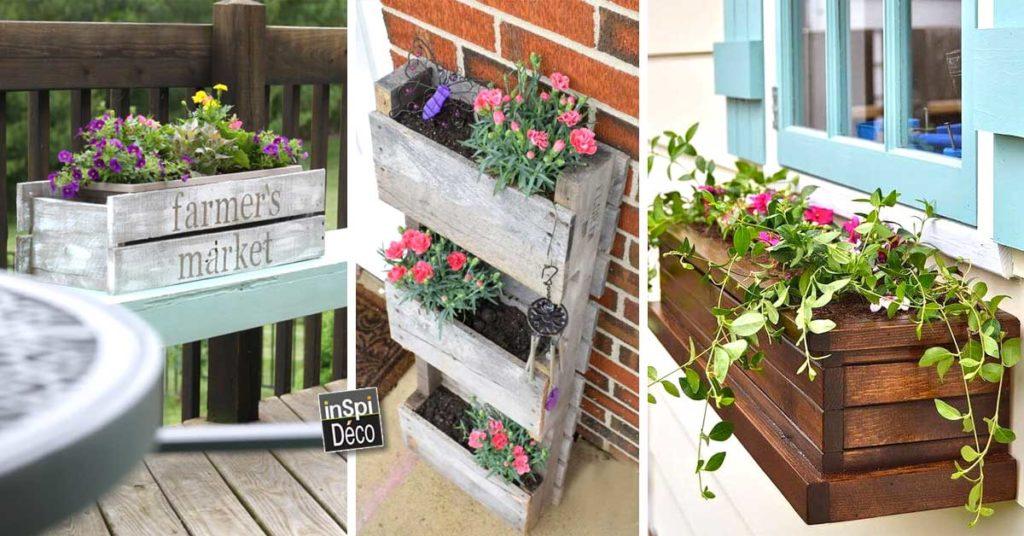 Bac A Fleurs En Bois De Palette 20 Idees Inspirantes A