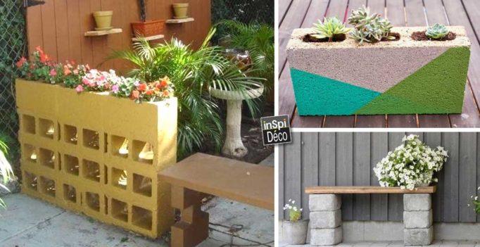 D corer son jardin avec des parpaings 20 id es pour vous for Jardin et deco