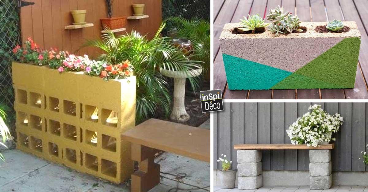 Superbes Déco Jardin Avec Des Parpaings! 20 Idées Pour Vous Inspireru2026