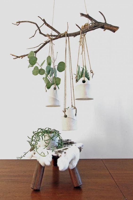 Des plantes suspendues pour d corer votre int rieur 20 id es inspirantes - Decorer son interieur ...
