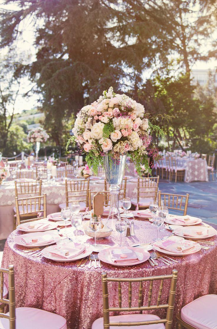 D co tables de mariage avec des roses 20 id es pour vous - Decorer une table ...