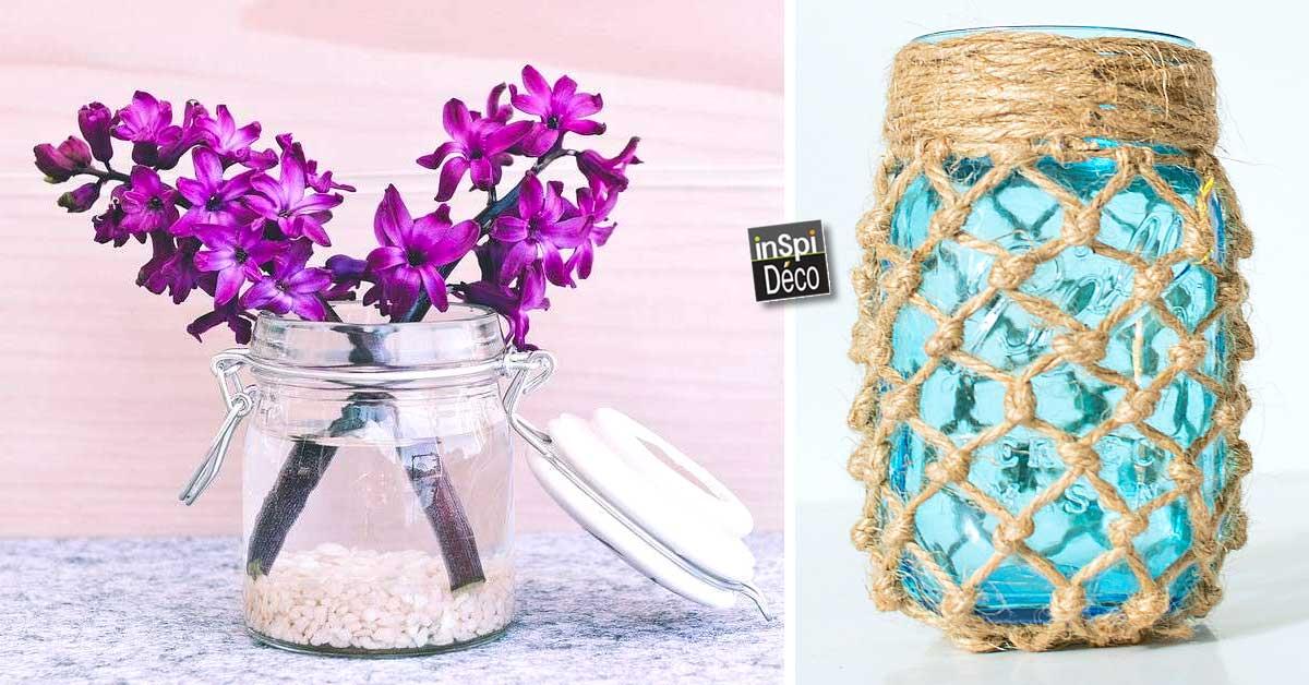d co de printemps avec des bocaux en verre 20 id es pour vous inspirer. Black Bedroom Furniture Sets. Home Design Ideas