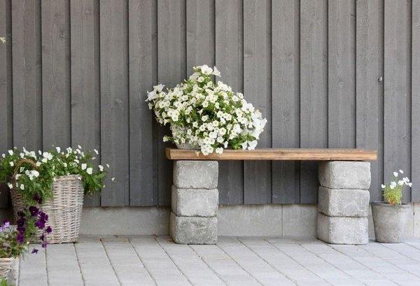 Décorer son jardin avec des parpaings