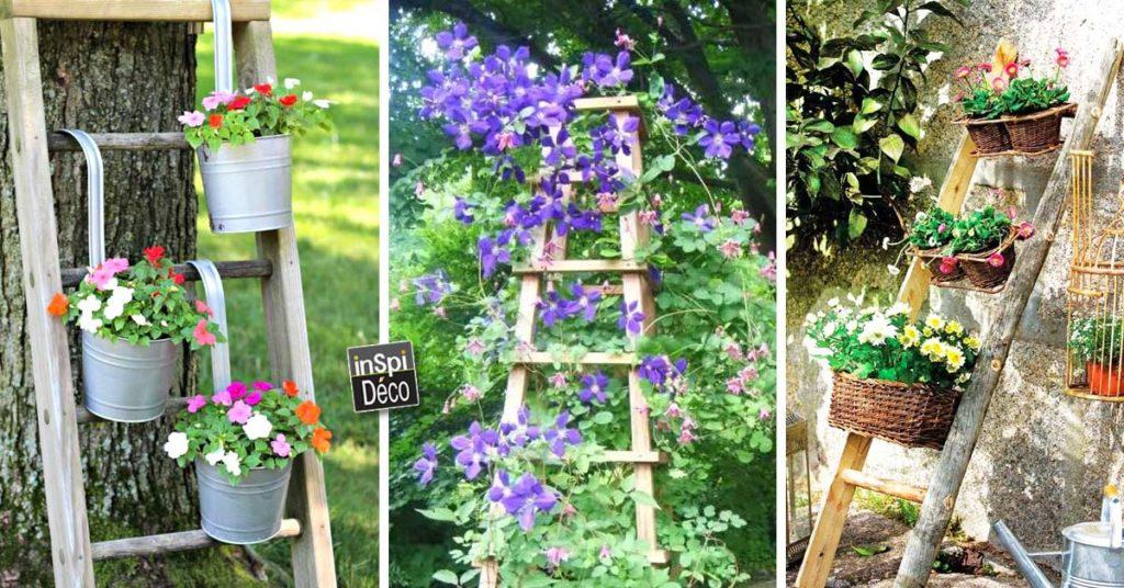 Recuperer Une Vieille Echelle Pour Decorer Son Jardin 20