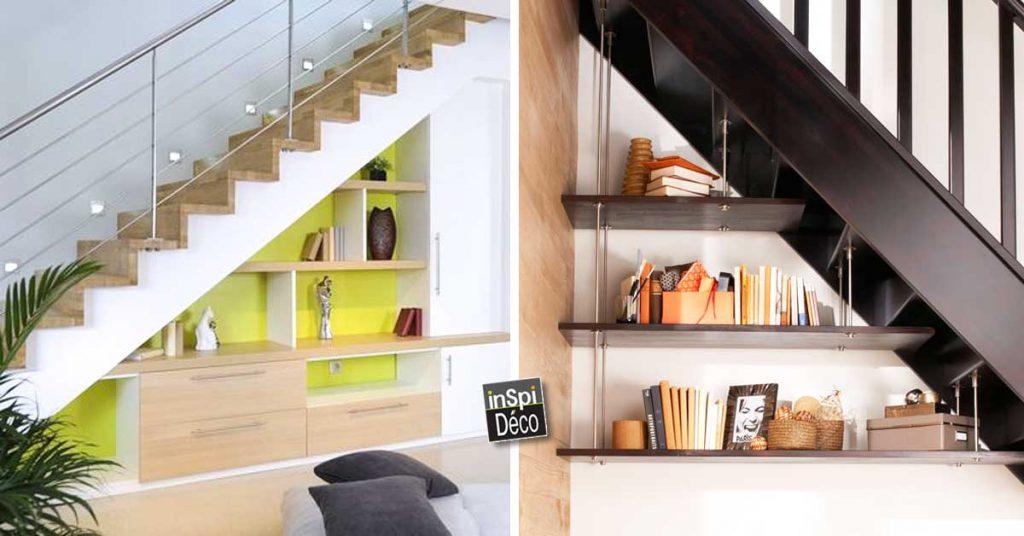 Des Etageres Deco Sous Escaliers 20 Idees Gain De Place