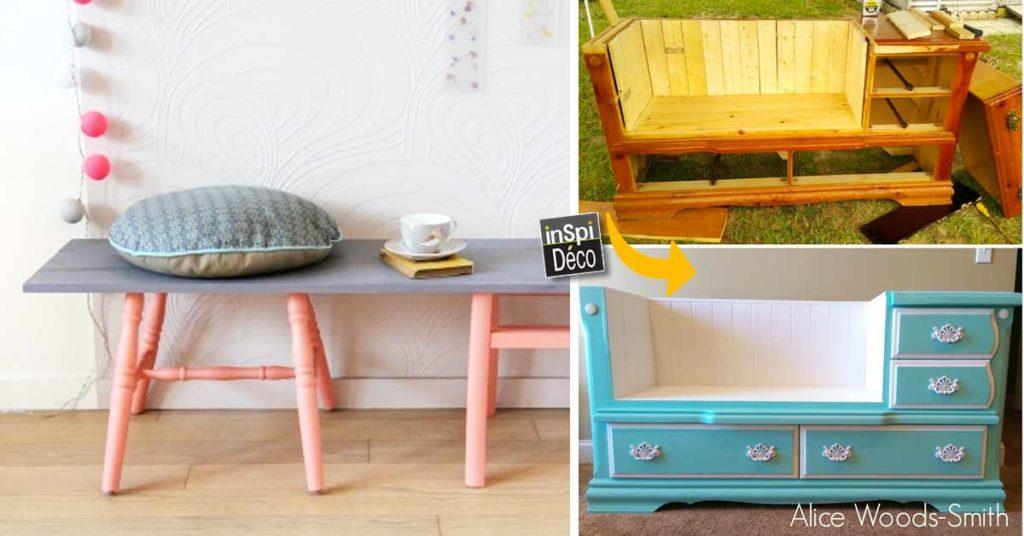 Réaliser un banc original pour votre intérieur! 20 idées