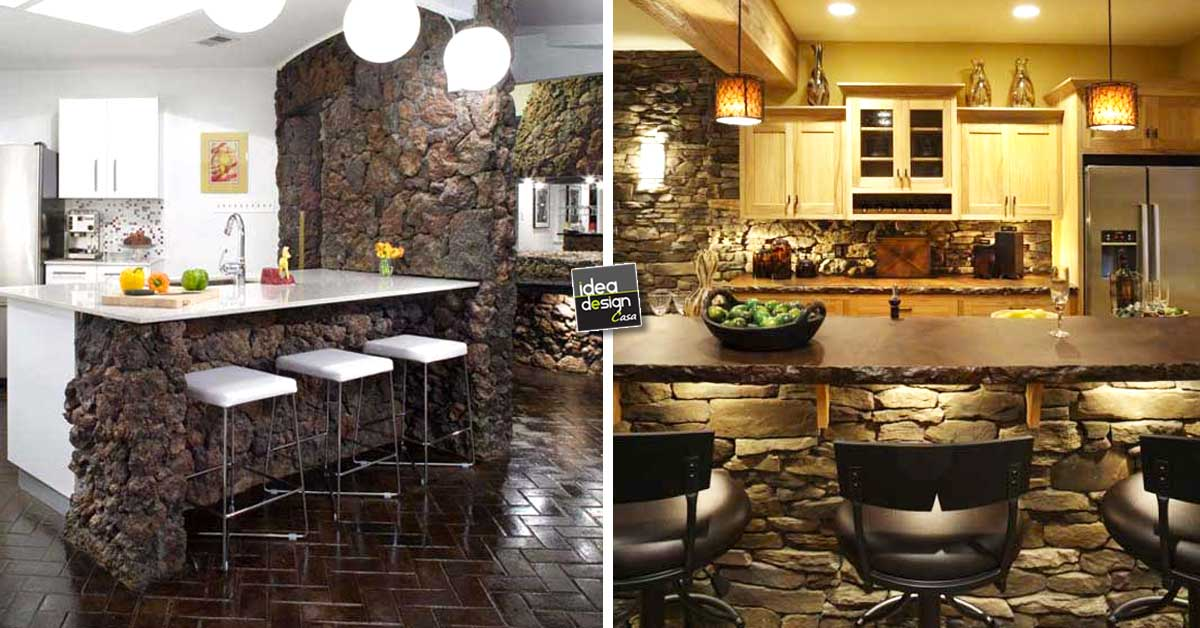 d co en pierre pour la cuisine 20 id es splendides. Black Bedroom Furniture Sets. Home Design Ideas