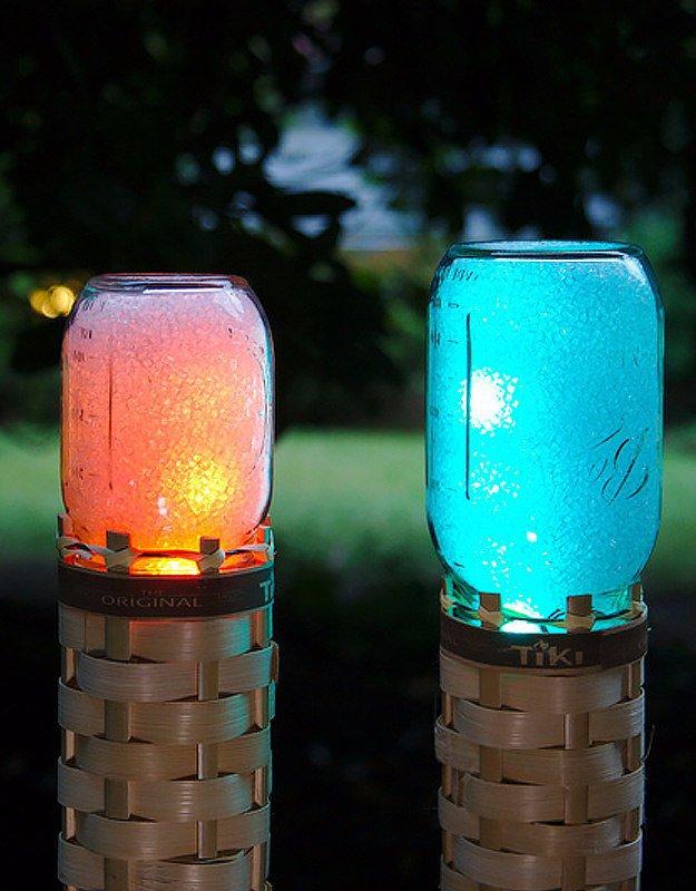 Lampe Design avec des bocaux en verre