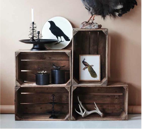 des cagettes en bois 20 id es pour r ussir son meuble design. Black Bedroom Furniture Sets. Home Design Ideas