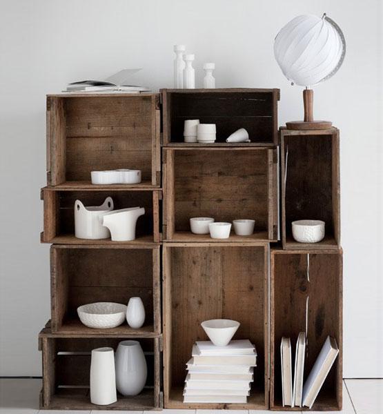 des cagettes en bois meuble design