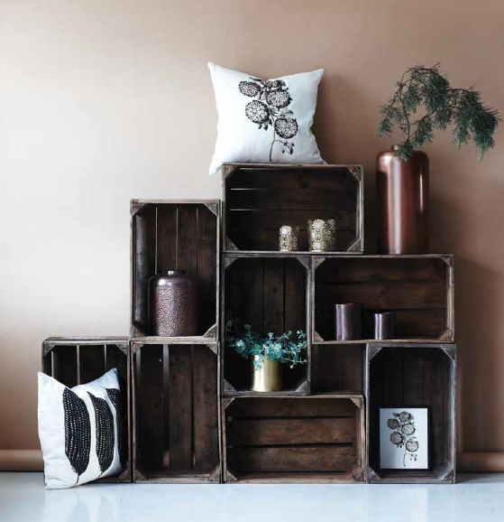 des cagettes en bois meuble design - Meuble Avec Caisse En Bois