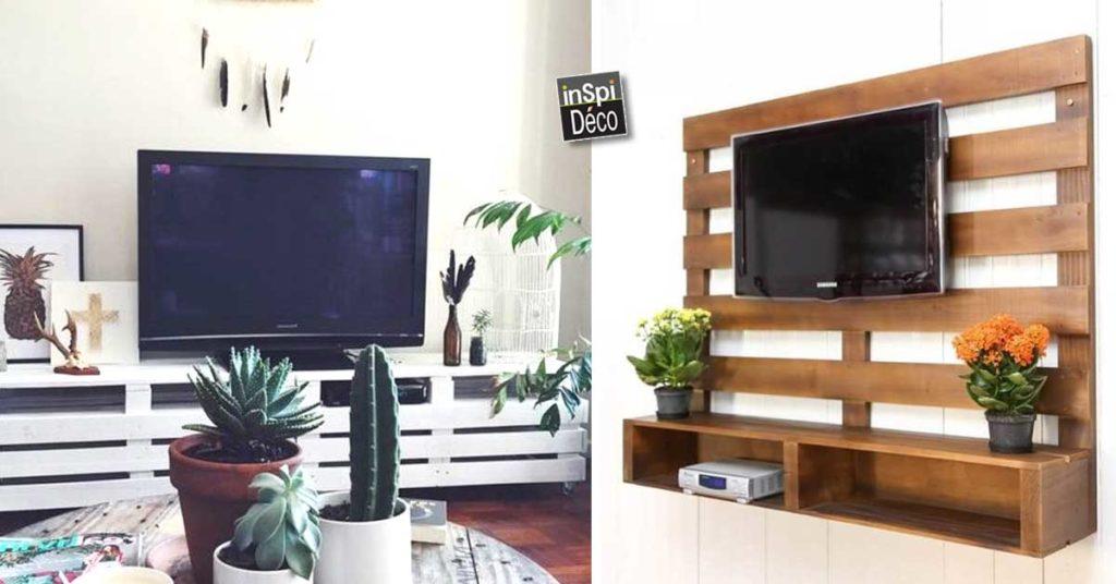 Déco Et Meubles Tv Fabriqués Avec Des Palettes De Bois 20