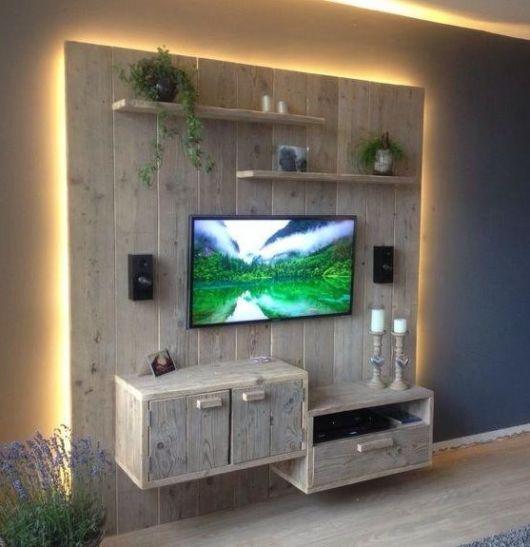 d co et meubles tv fabriqu s avec des palettes de bois 20 id es. Black Bedroom Furniture Sets. Home Design Ideas