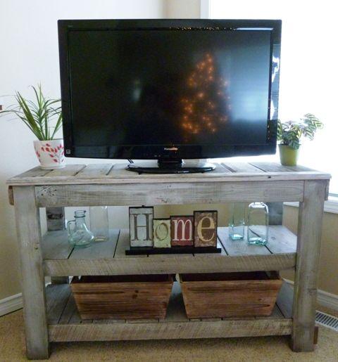 meubles TV fabriqués avec des palettes