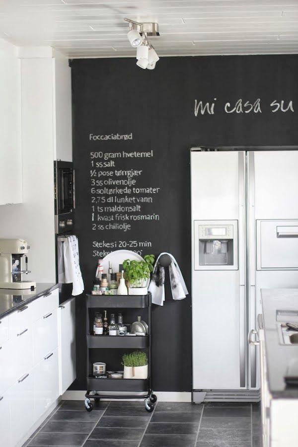 Peindre Un Mur Avec De La Peinture Ardoise 20 Idees Pour