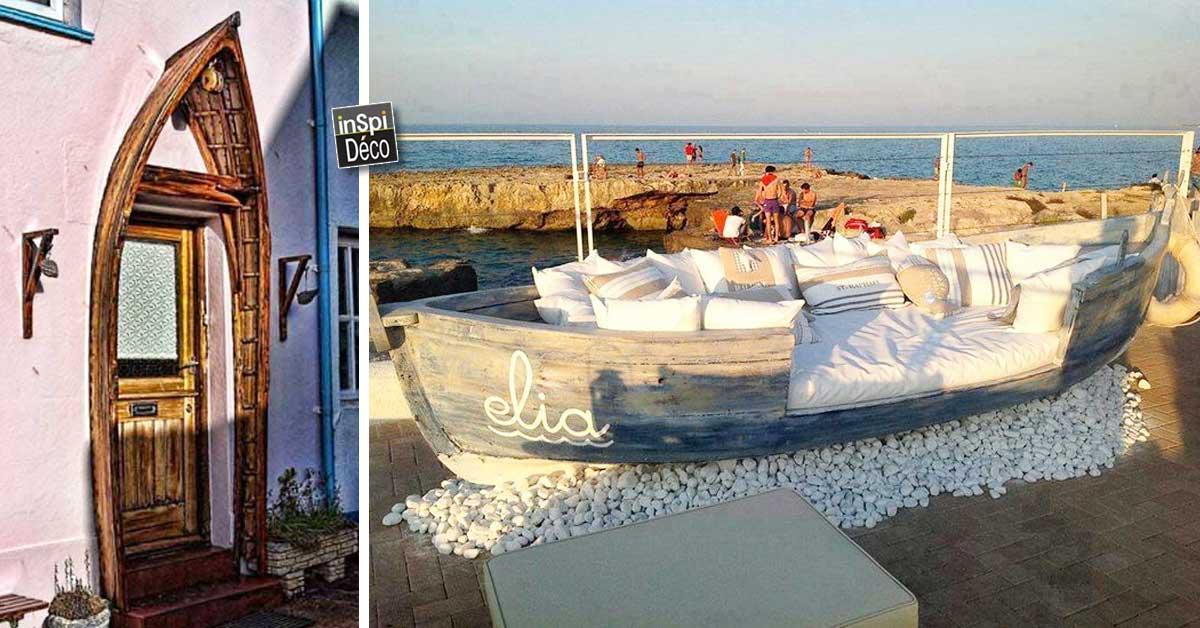 recycler une vieille barque 20 id es sublimes pour vous inspirer. Black Bedroom Furniture Sets. Home Design Ideas